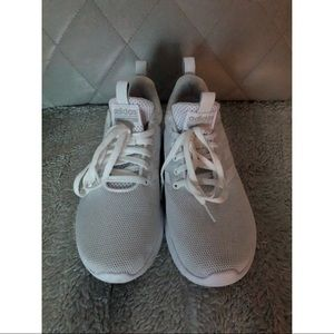 Adidas cloudfoam all white sneakers